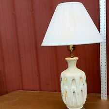 MID CENTURY ITALIAN MODERN LAMP POTTERY STUDIO CRAFTED AUTOMATIC DESIGN GLAZE
