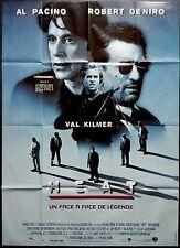1995 HEAT Al Pacino Robert De Niro Kilmer Michael Mann French 47x63 movie poster