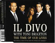 IL DIVO with TONI BRAXTON - The time of our lives CD SINGLE 2TR EU RELEASE 2006