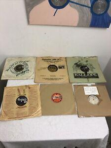 Konvolut Schellackplatten mit 6 Platten, verschieden Interpreten ......
