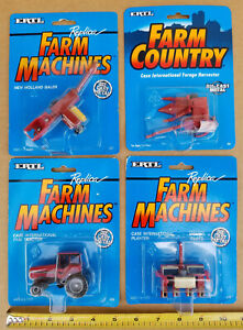 Farm Country CASE NEW HOLLAND 1:64 ( 4-Package Set ) ERTL 1991-4  NEW  SEALED