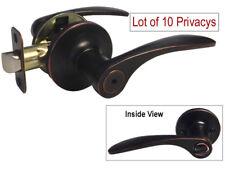 Lot of 10 Dark Oil Rubbed Bronze Privacy Door Knob Levers (Bedroom & Bathroom)