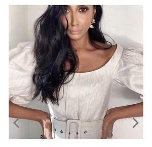 Shona Joy Hamilton Linen Mini Dress Sz 8