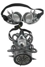 ADULT STEAMPUNK GAS MASK & GOGGLES FACE MASK COSTUME MASQUERADE SS73776