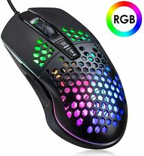 More details for wired gaming mouse honeycomb shell lightweight 6400 dpi usb gaming mice for pc