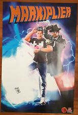 SIGNED Markiplier 24x36 Poster Exclusive Comic Back to Future - RARE - SDCC 2016