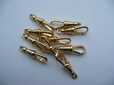 10 x Clasp Gold Plated Albert Swivel Pocket Watch Fob Dog Clip 26mm  for chain