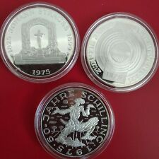 Österreich 100 Schilling PP 1975 Silber 3 Münzen in Münzkapseln