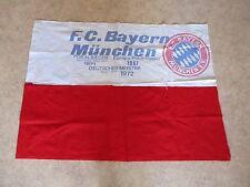 """FC Bayern München Originale Fahne 1972 """"Europa-Pokalsieger,Deutscher Meister"""""""