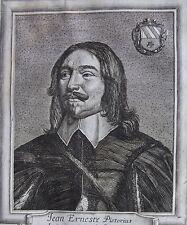 JEAN ERNEST PISTORIUS...... SAXE......Portrait. Gravure originale (1650).