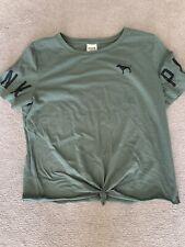 VS Victoria Secret PINK khaki Gym Training Top Tshirt S