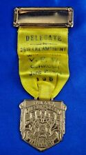 1950 VFW Delegate 29th Encampment Wisconsin Medal Ribbon Whitehead & Hoag Newark