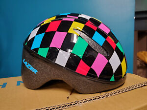 Lazer BOB Infant Helmet: Black w/ Multi Color Squares, One Size