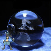 Pokemon Go K9 Crystal Lucario Pokeball 3D with Led Light Base Xmas Gift