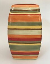Tabletops Unlimited Urban Chic Large Striped Kitchen Canister Jar 9""