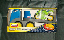 Little Tikes Rugged Riggz MOTORCYCLE HAULER SEMI NEW IN PACKAGE 2003 VHTF