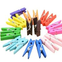 Wooden Home Clips Household 50Pcs Mini Clothespin Wood Clothes Pegs Colorful