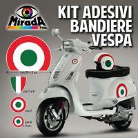 KIT Adesivi Stickers VESPA BANDIERA ITALIA PX GTS PRIMAVERA PIAGGIO TRICOLORE 1