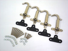 1928 1929 Ford Model A Hood Latches STAINLESS + BONUS Install Screws and Pads