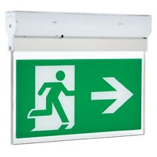 Hispec Non or Maintained LED 3w Emergency Fire Exit Sign Light Left or Right