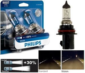 Philips VIsion 30% 9007 HB5 65/55W Two Bulbs Head Light Replace High Low Beam OE
