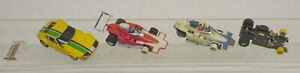 Vintage Aurora AFX G Plus Indy F1 & Yellow Ferrari Daytona HO Slot Car Lot