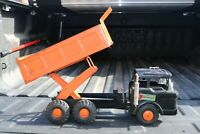 "Louis Marx ""Powerhouse"" Hydraulic SCISSOR Lift Dump Truck - Pressed Steel - USA"
