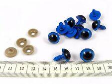 10 occhi occhietti blu plastica vite 14 x 18 mm pupazzi bambole amigurumi