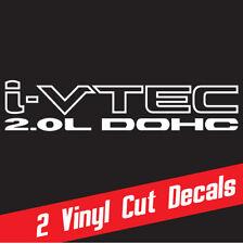 2.0 DOHC i-vtec 2X decal sticker vinyl *WHITE Honda Civic Acura