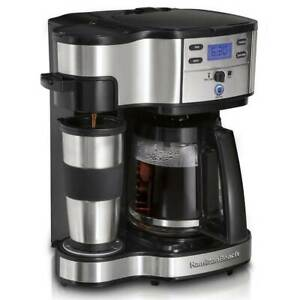 Hamilton Beach 2-Way Brewer Coffee Maker, Single-Serve and 12-Cup Pot, 49980A B