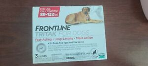 Frontline Tritak 3 Doses Pack for Dogs 89-132lb Flea Tick Free Shipping