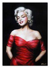 Marylin Monroe-70x50cm-Ölbild Dipinti Mano Tela Autografato G100860