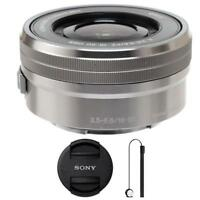 Sony SELP1650 16-50mm F/3.5-5.6 PZ OSS Lens Silver with Lens Cap Holder