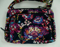Vera Bradley Little Hipster Crossbody Purse - Midnight Wildflowers Pattern  NWT