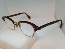 Vintage American Optical Ao eyeglasses 20 44 1/10 12Kgf Brown Gold