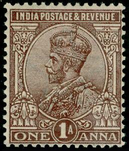 INDIA SG197, 1a chocolate, LH MINT.