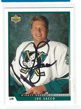 Joe Sacco Signed 1993/94 Upper Deck Card #36