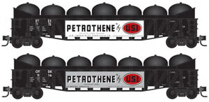 Micro-Trains MTL N-Scale 50ft Gondolas OTDX with Petrothene Tanks Load 2-Pack