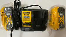 DEWALT DCB115 Battery Charger With Two 20v 5.0ah Battery DCB205