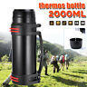 2L Stainless Steel thermos Travel Sport Mug Flask Thermal Water Insulated Bottle