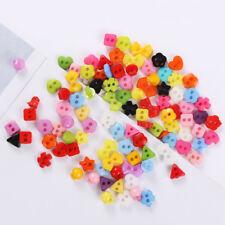 50pcs/lot DIY Candy Color Handmade Cloth Button Doll Clothes Mini Buttons