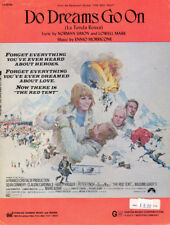 DO DREAMS GO ON Music Sheet-1971-SEAN CONNERY/PETER FINCH/CARDINALE-RED TENT
