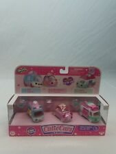 Shopkins Cutie Cars Die Cast Freezy Riders Collection Including 3 Mini Shopkins