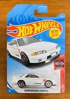 2019 Hot Wheels Nissan Skyline GT-R White Custom w/Real Riders