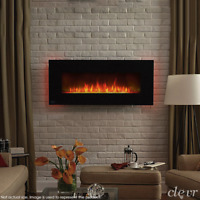 """39"""" Wall Mount Electric Fireplace Heater 7-Day Programmable Smart Control"""