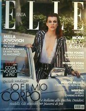 ELLE RIVISTA N. 14 Italy MAGAZINE 20 APRILE 2019 MODA Jovovich CURVY Bellucci