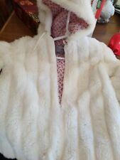 Winter Fox Size 14 White Fur Coat