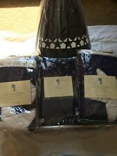 New Pottery Barn Kids Blue Star Quilt, 2 Shams, and Lampshade