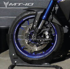 MT-10 motorcycle wheel decals stickers rim stripes MT 10 motorbike silver mt10