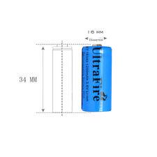 2x UltraFire 16340 Rechargeable Li-ion Battery 3.6/3.7V 1200mAh+1x EU/US Charger